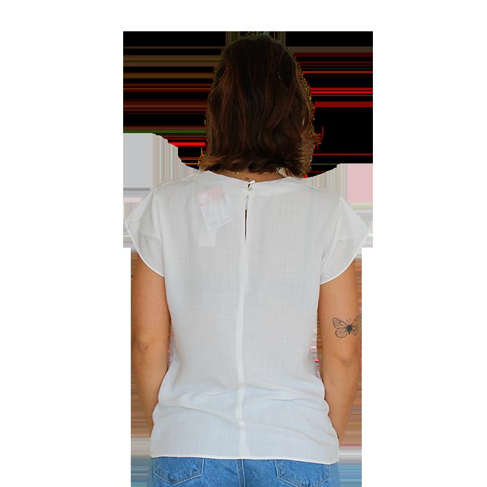 Blusa Decote V Líria Branca