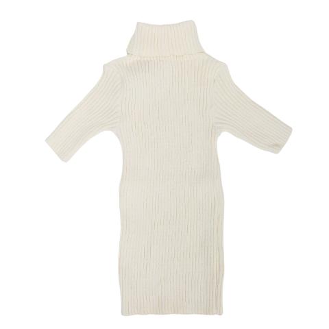 Blusa Gola Alta Tricot Branca