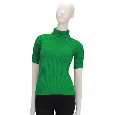 Blusa Gola Alta Tricot Verde Bandeira