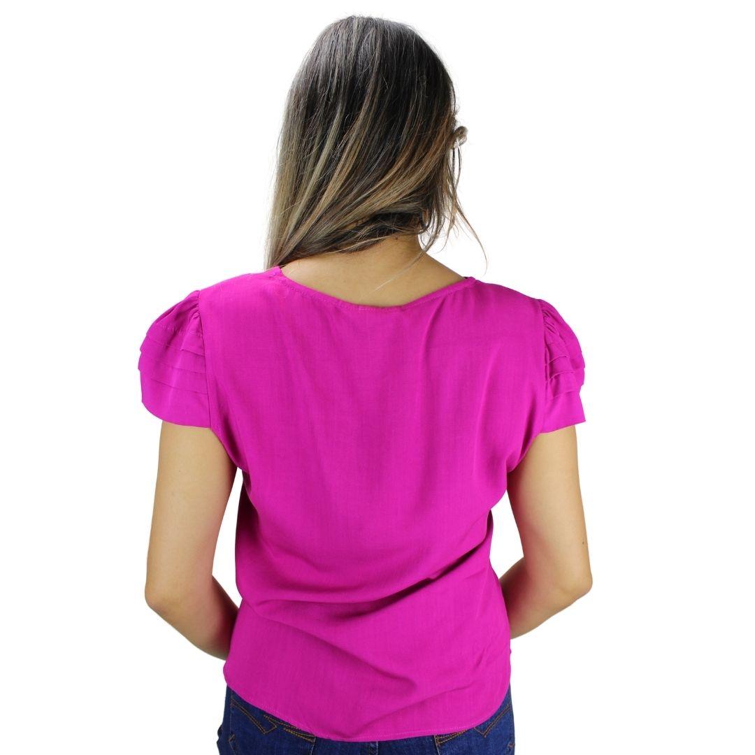 Blusa Manga Curta  Líria Pink