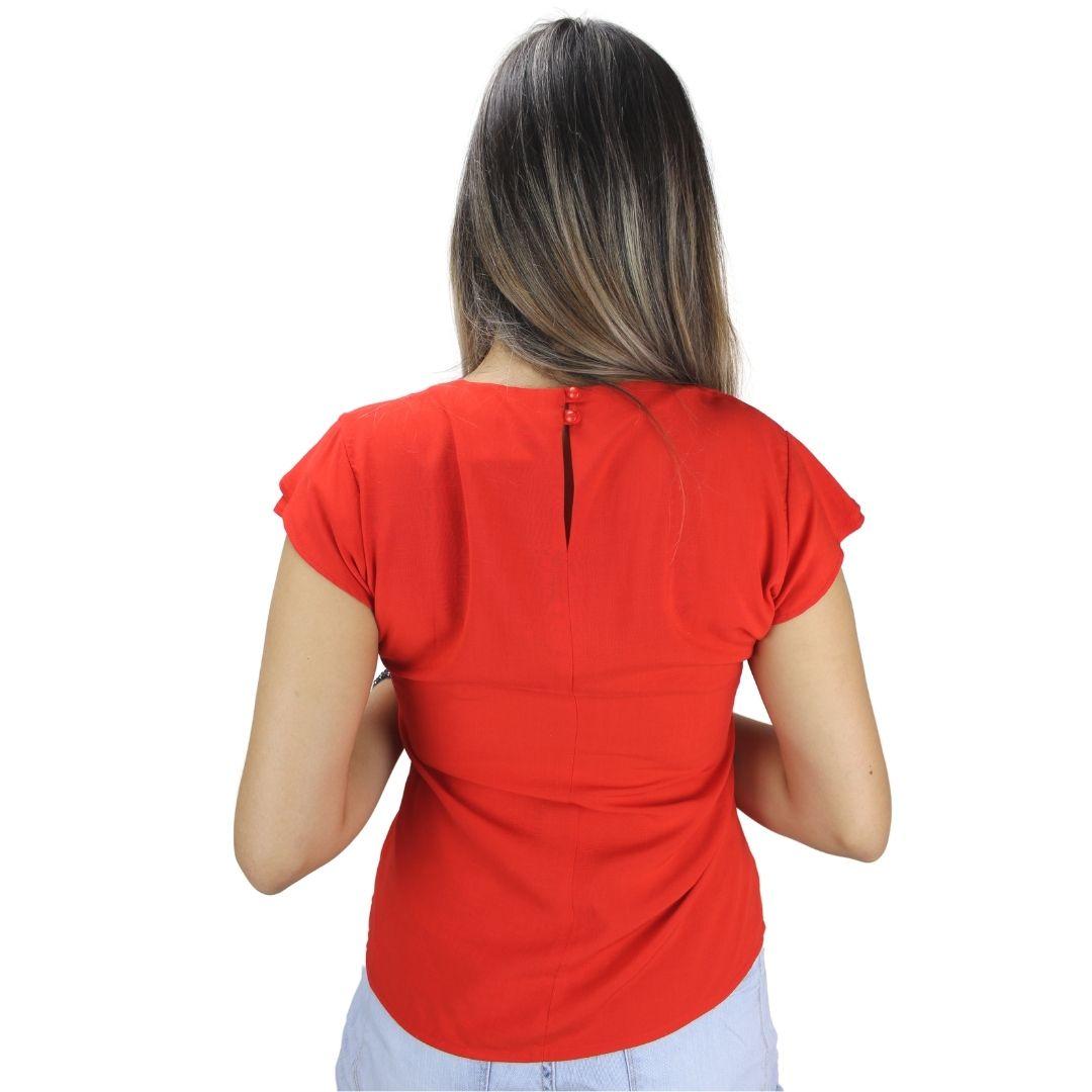 Blusa Manga Curta  Líria Vermelha
