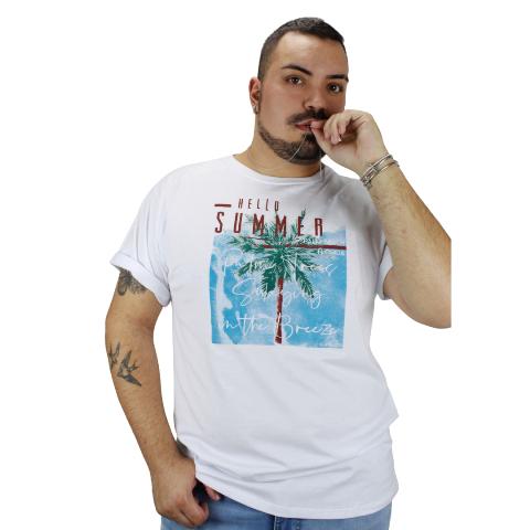 Camiseta Hello Summer Beach Branca