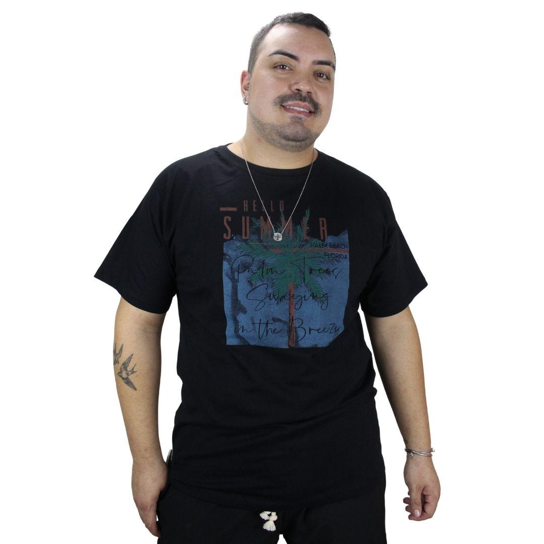 Camiseta Hello Summer Beach Preta