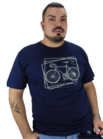 Camiseta Keep Moving Azul Marinho