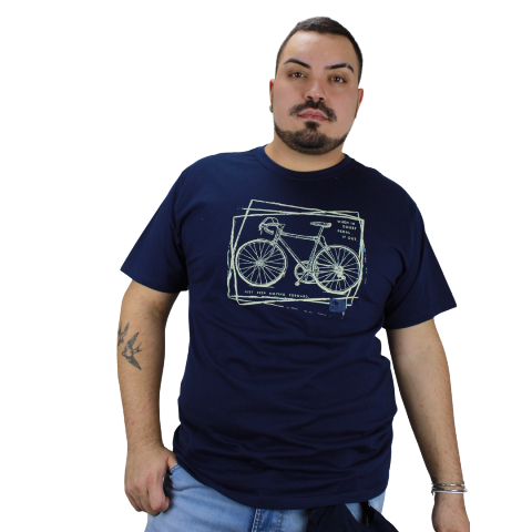 Camiseta Keep Moving Azul Marinho