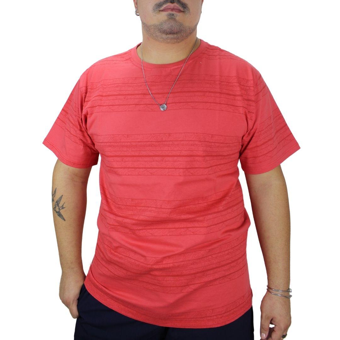 Camiseta Laranja com Estampa Floral