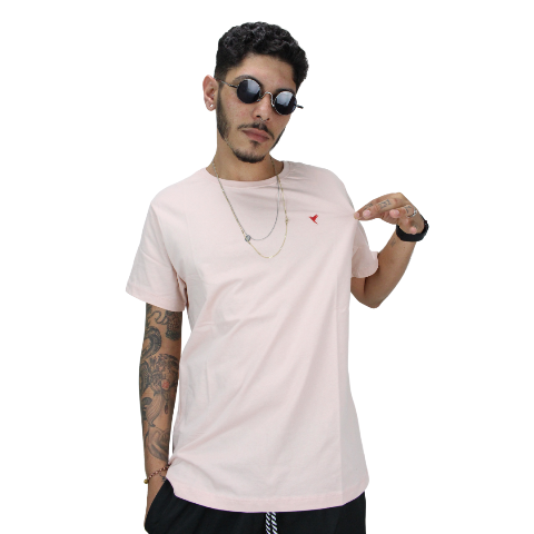 Camiseta Líria Rosa Bebê