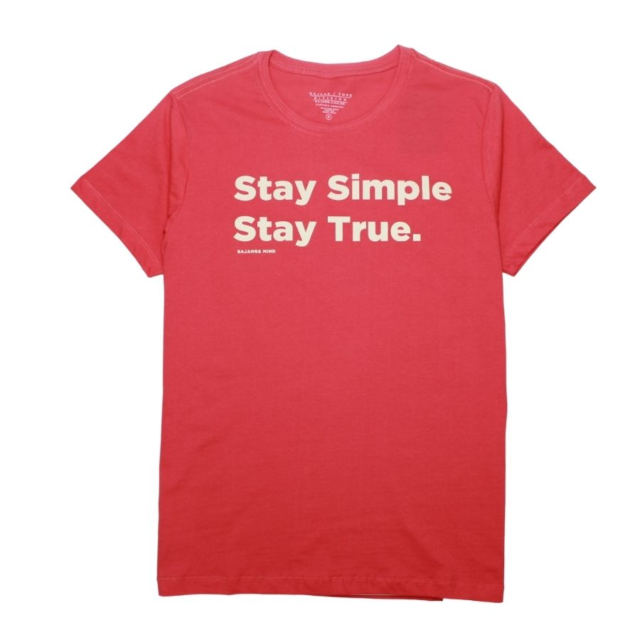 Camiseta Stay True Goiaba