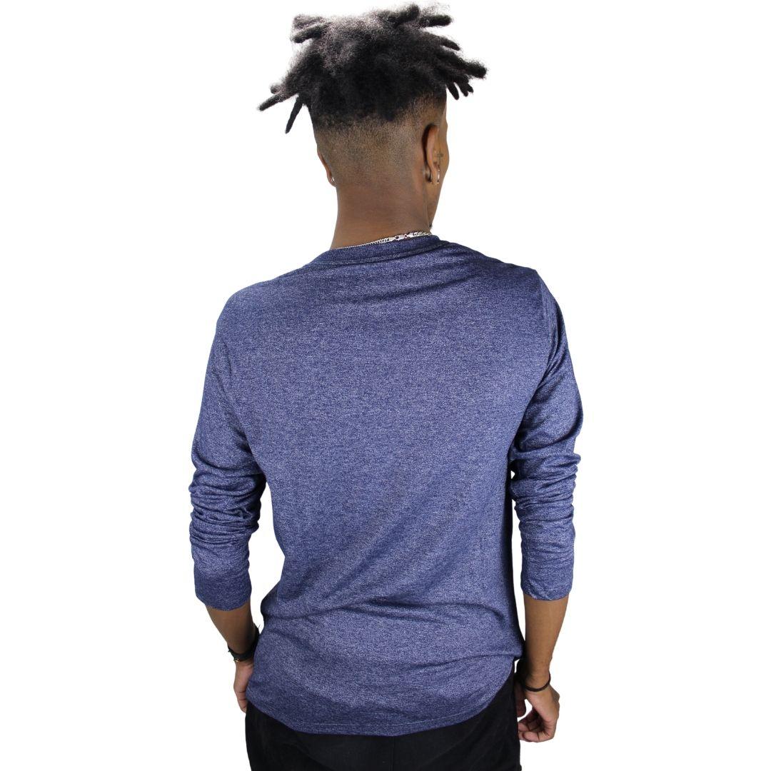 Camiseta Manga Longa  Mescla Azul
