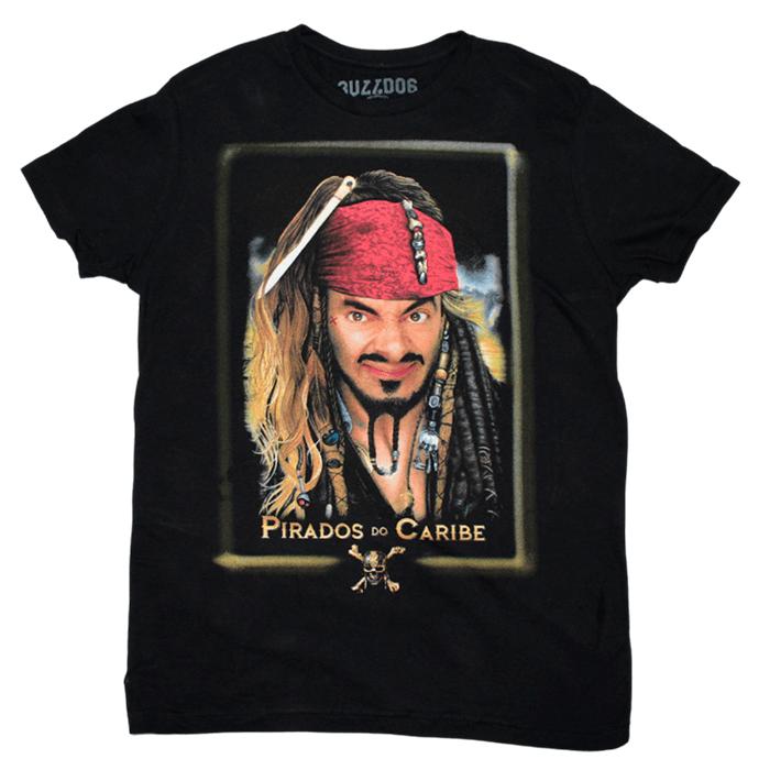 Camiseta Mr Bean Piratas do Caribe