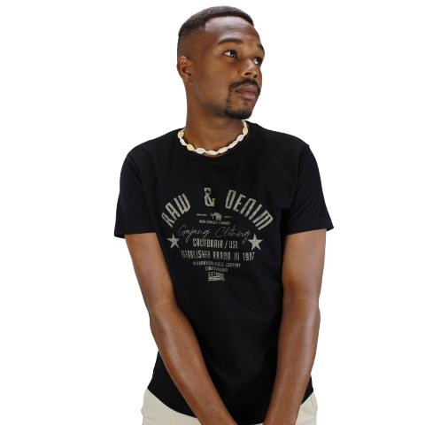 Camiseta Raw & Denim Preta