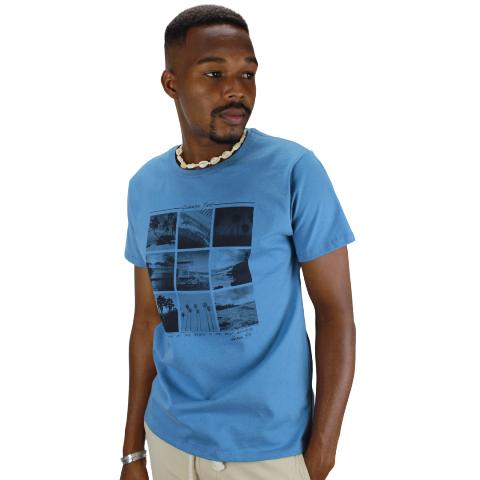 Camiseta Surf Azul Náutico