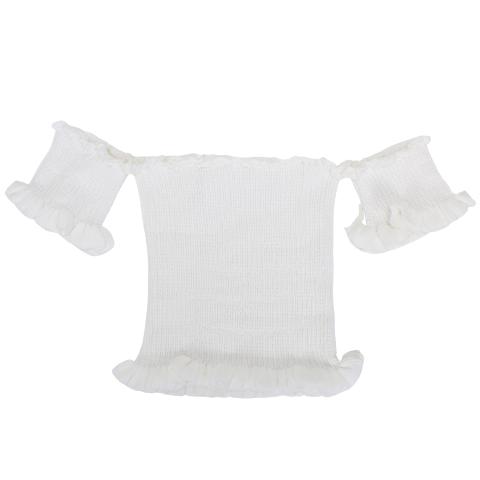 Cropped de Tricot Ciganinha Branco