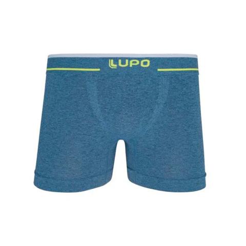 Cueca Boxer Lupo Azul com Verde FLuorescente