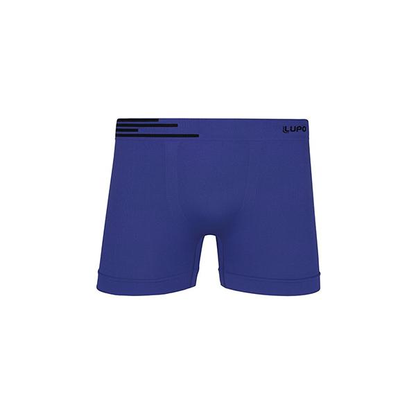 Cueca Boxer Microfibra Azul Náutico