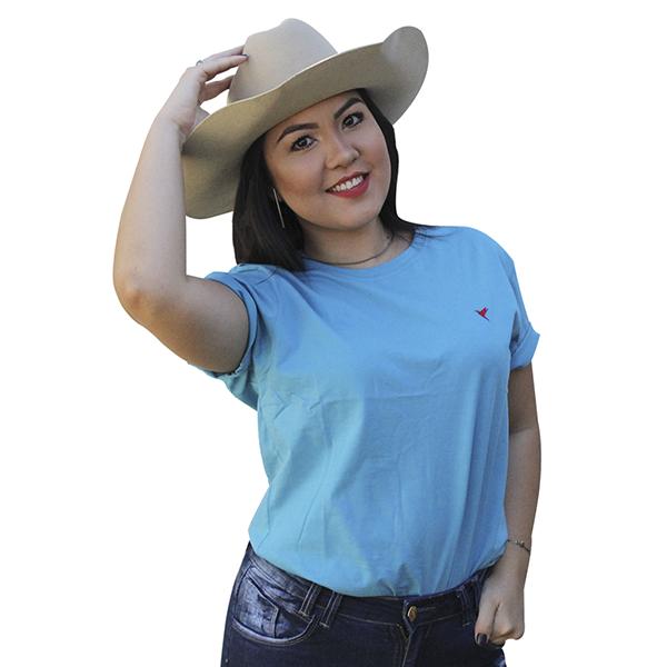 KIT 3 Camisetas ( Rose, Azul Claro e Verde Água)