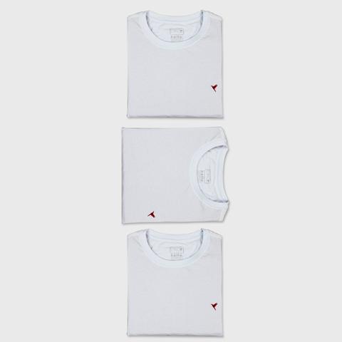 KIT 3 Camisetas (Todas Brancas)