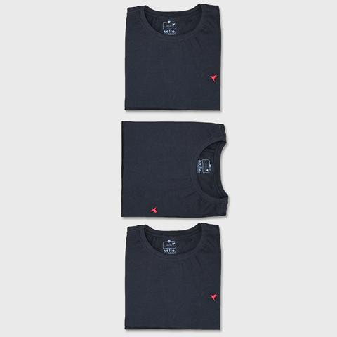 KIT 3 Camisetas (Todas Pretas)