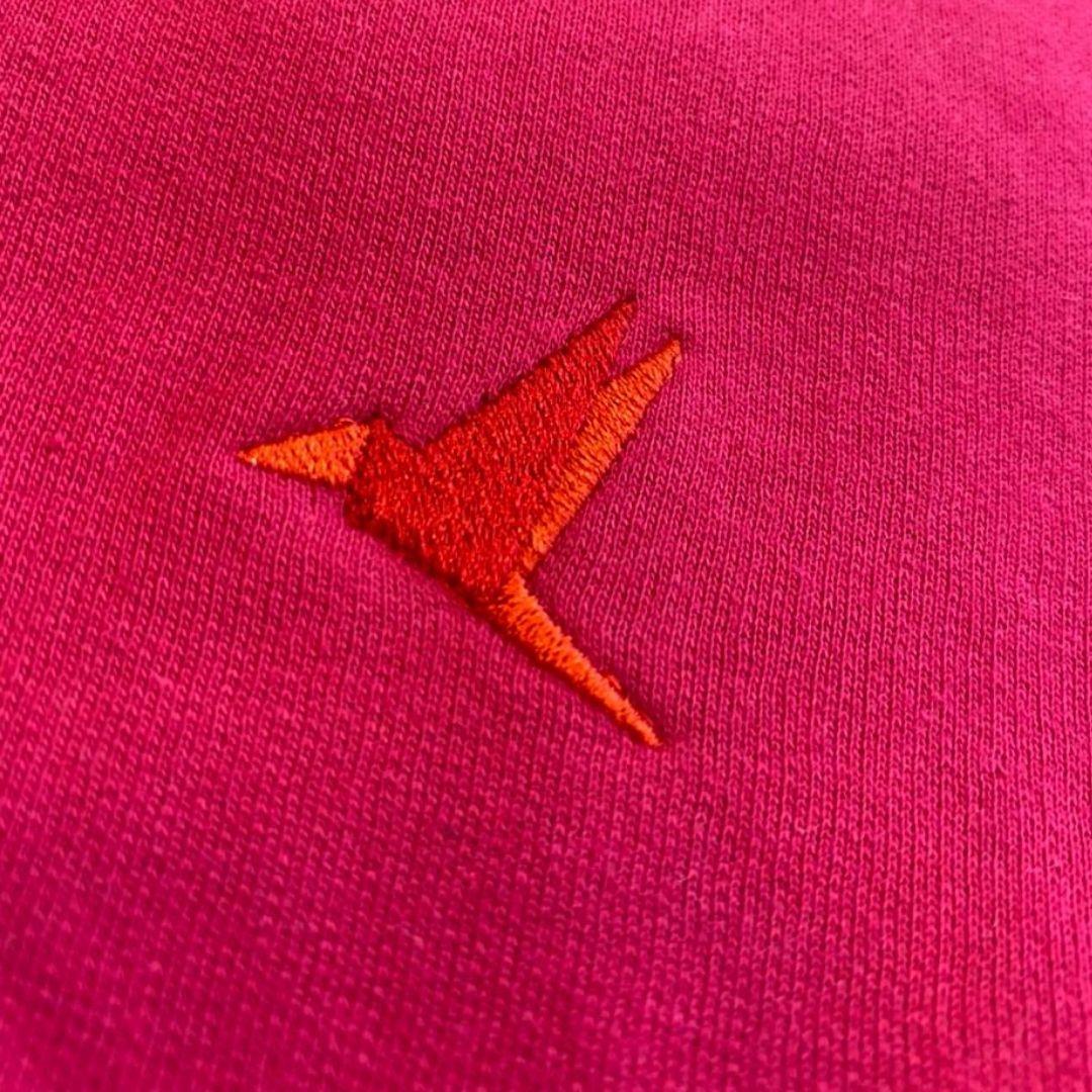Moletom Fechado Sem Capuz Líria Rosa Pink