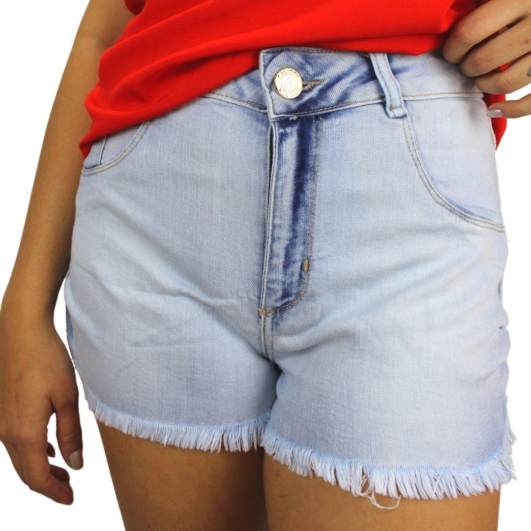 Shorts jeans Barra Franzida