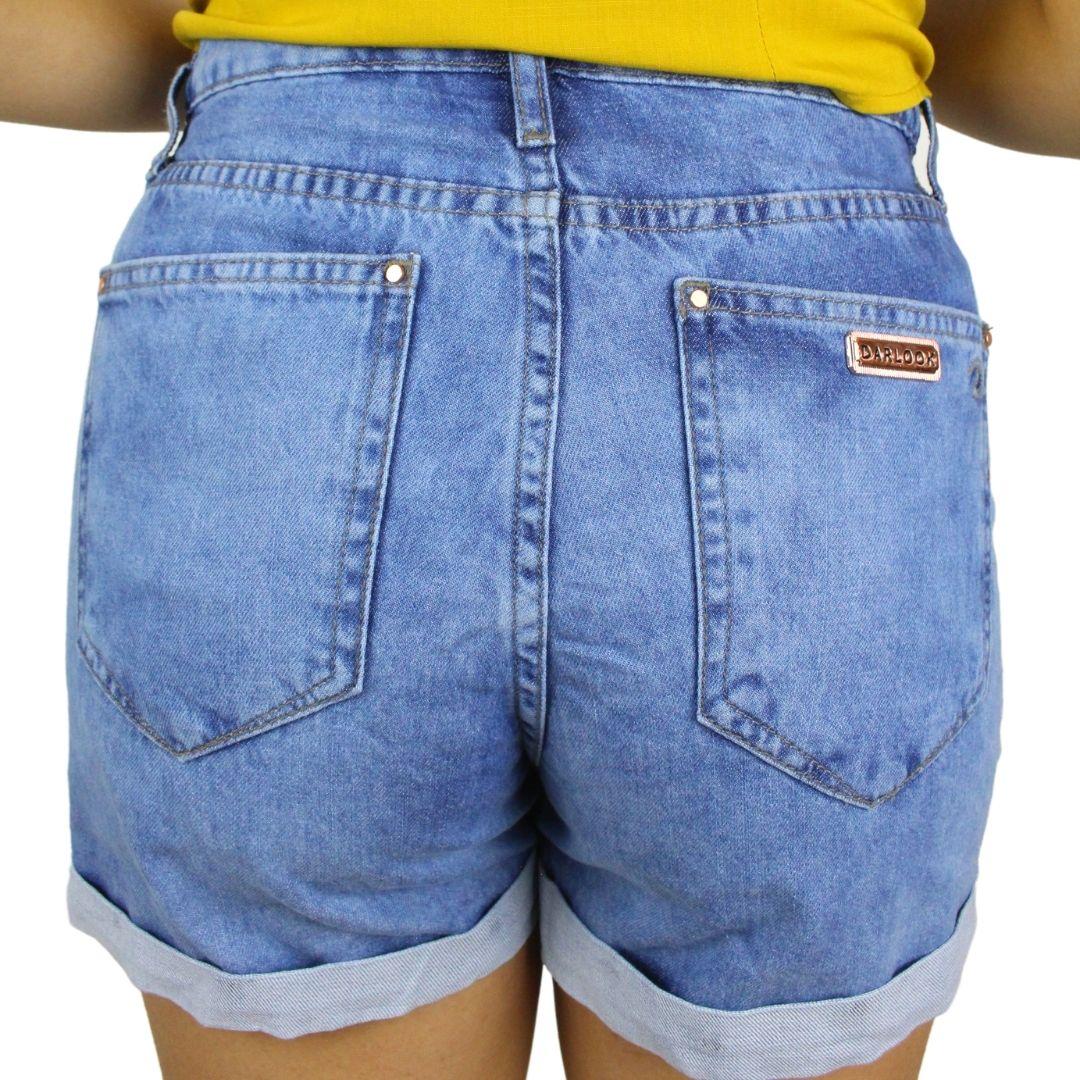 Shorts Jeans BoyFriend Barra Virada