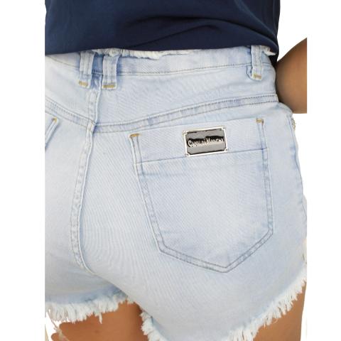 Shorts jeans Com Botões