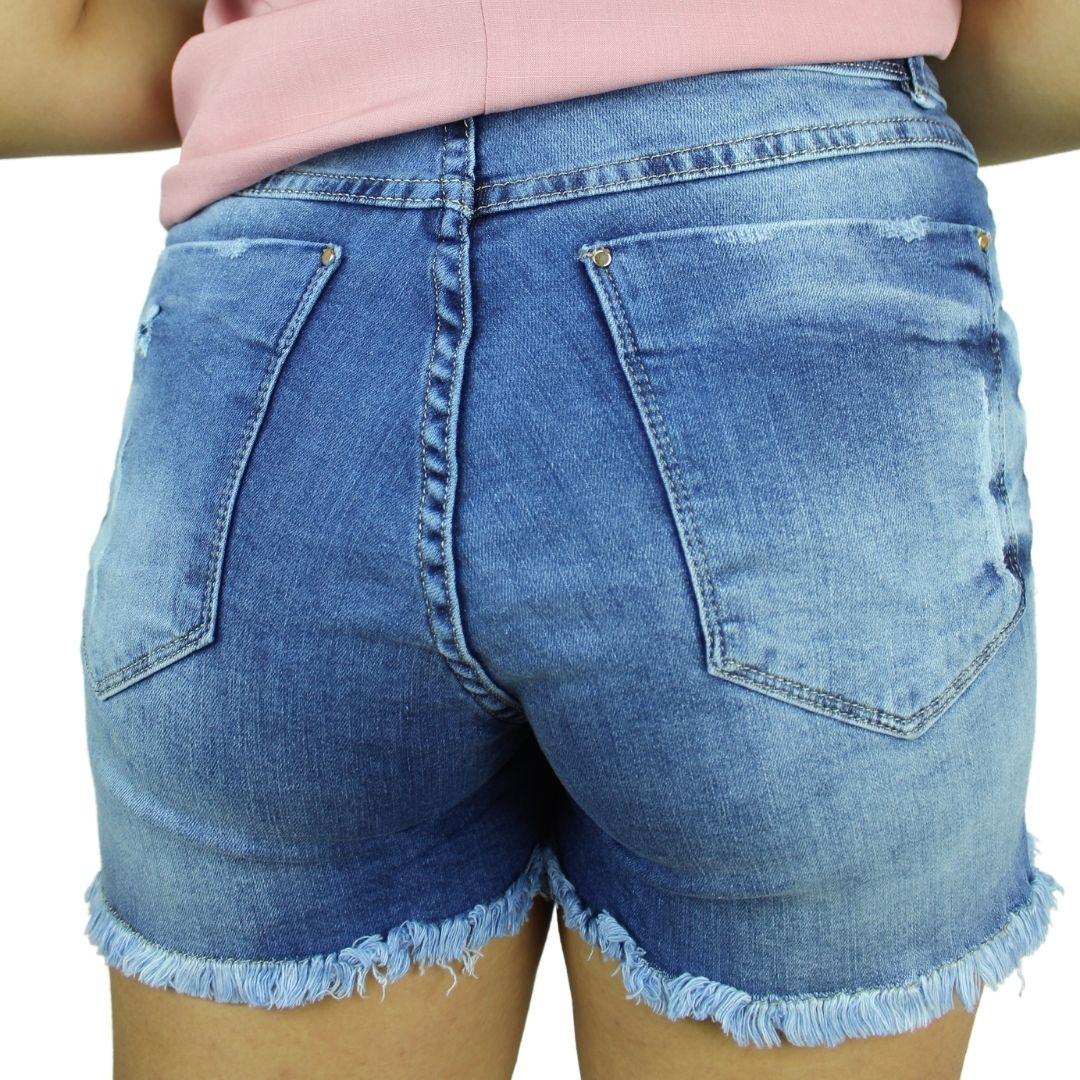 Shorts Saia Jeans Rasgado