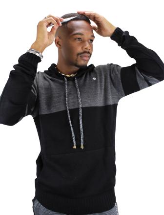 Suéter de Tricot com Capuz