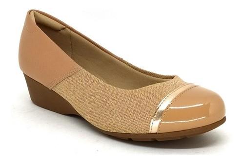 Sapato Feminino Anabela Modare 7014.263 Nude