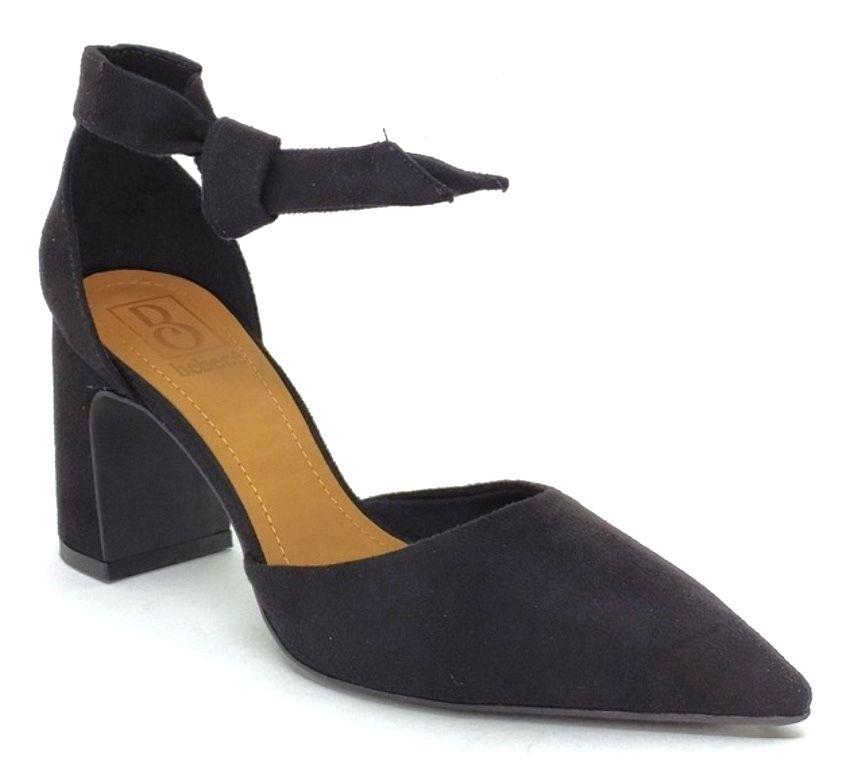 Sapato Scarpin Feminino Bico Fino c/ Amarração Bebecê 7018-131 Preto