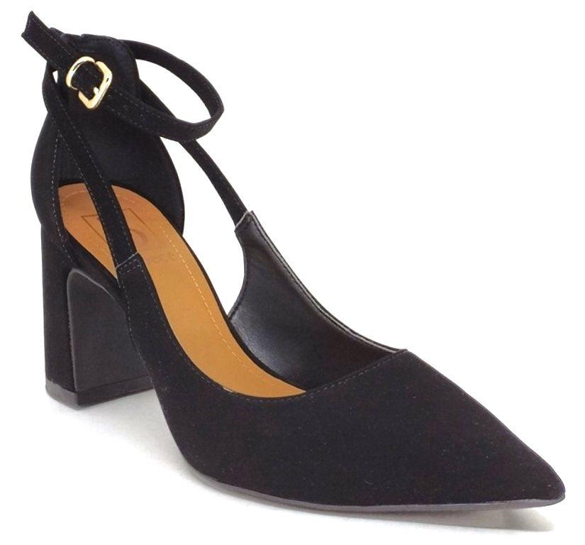 Sapato Scarpin Feminino Bico Fino c/ Amarração Bebecê 7018-144 Preto