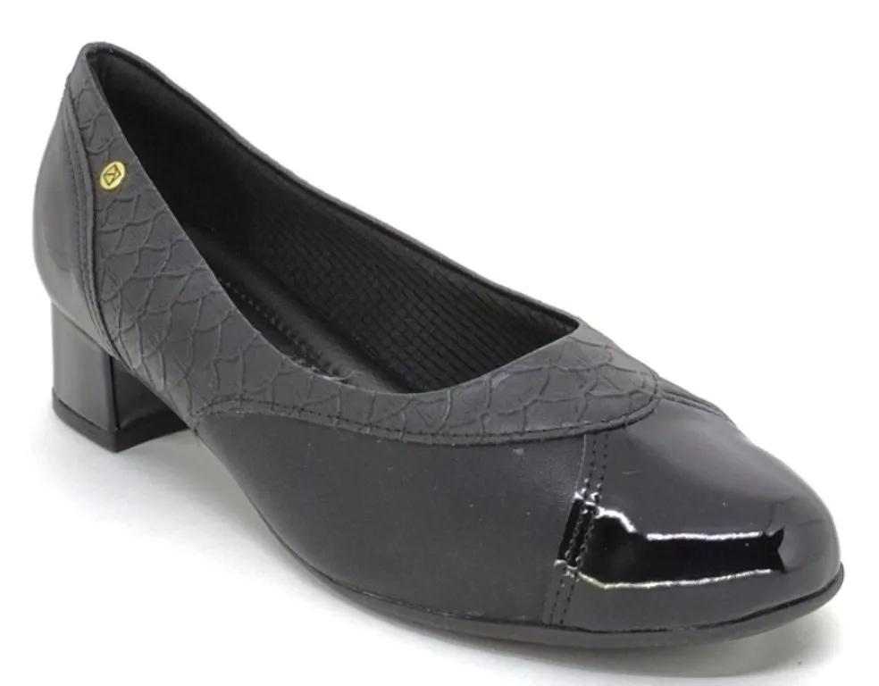 Sapato Feminino Salto Baixo Piccadilly 141107 Preto