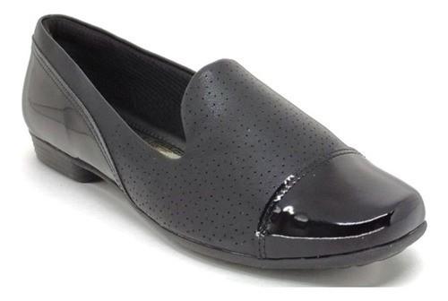 Sapato Feminino Salto Baixo Piccadilly 251075 Preto