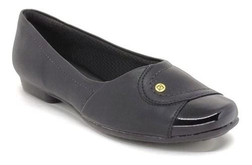 Sapato Feminino Salto Baixo Piccadilly 251076 Preto