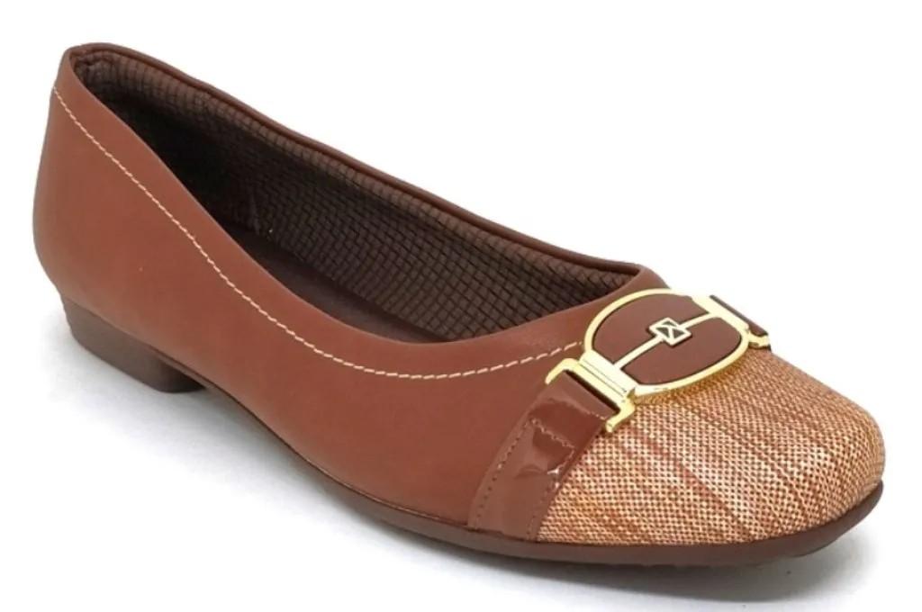 Sapato Feminino Salto Baixo Piccadilly 251077 Marrom