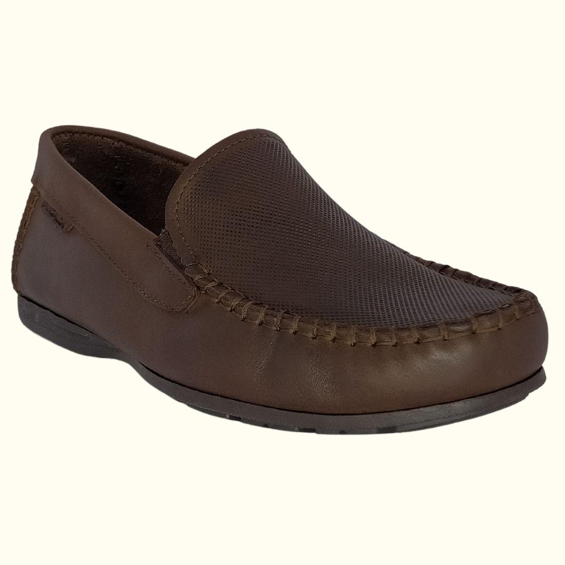 Sapato Masculino Mocassim Pegada Couro
