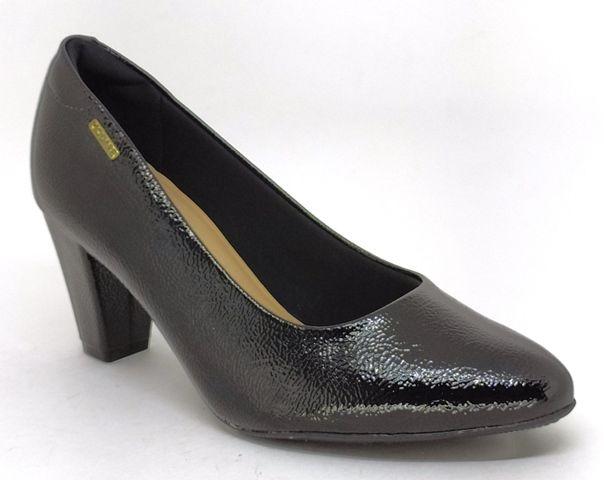 Sapato Scarpin Feminino Modare 7305.400 Preto Salto Grosso