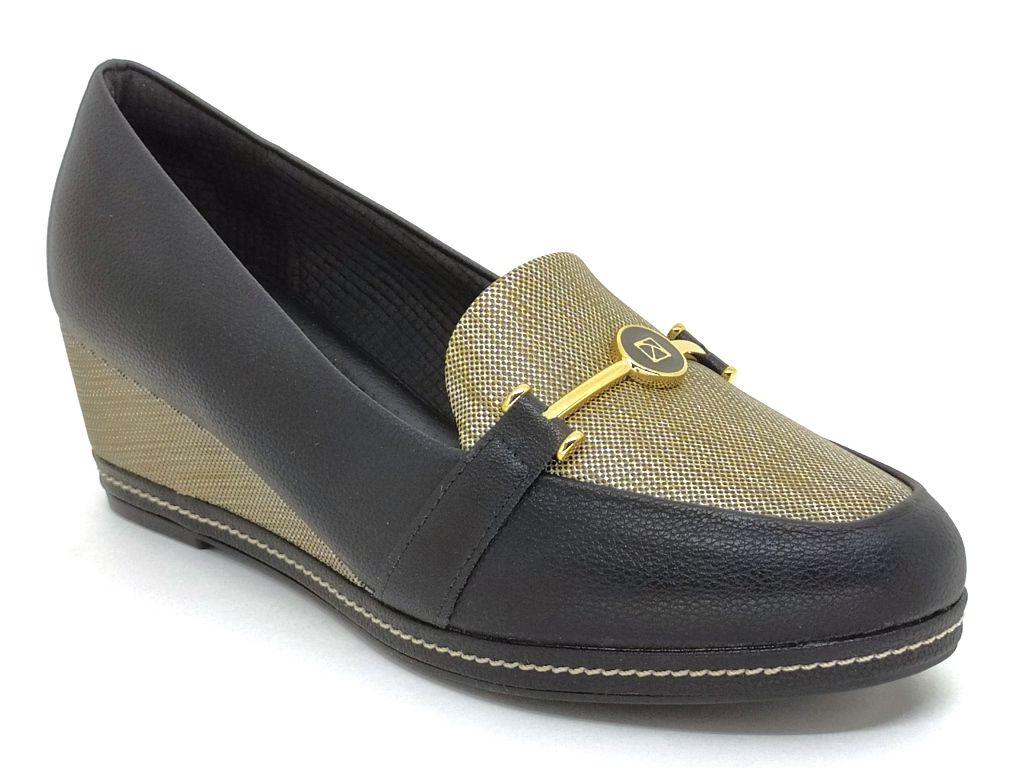 Sapato  Feminino Anabela Piccadilly 348005 Preto