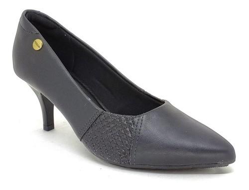 Sapato Scarpin Feminino Modare 7013.636 Preto Salto Médio