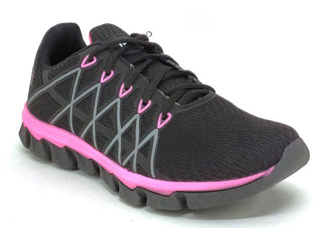 Tênis Esportivo Feminino Lynd Reason Preto/Pink