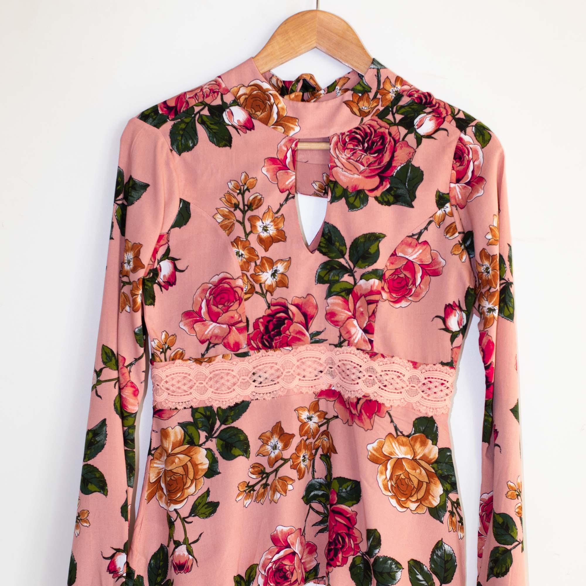 blusa viscose flor