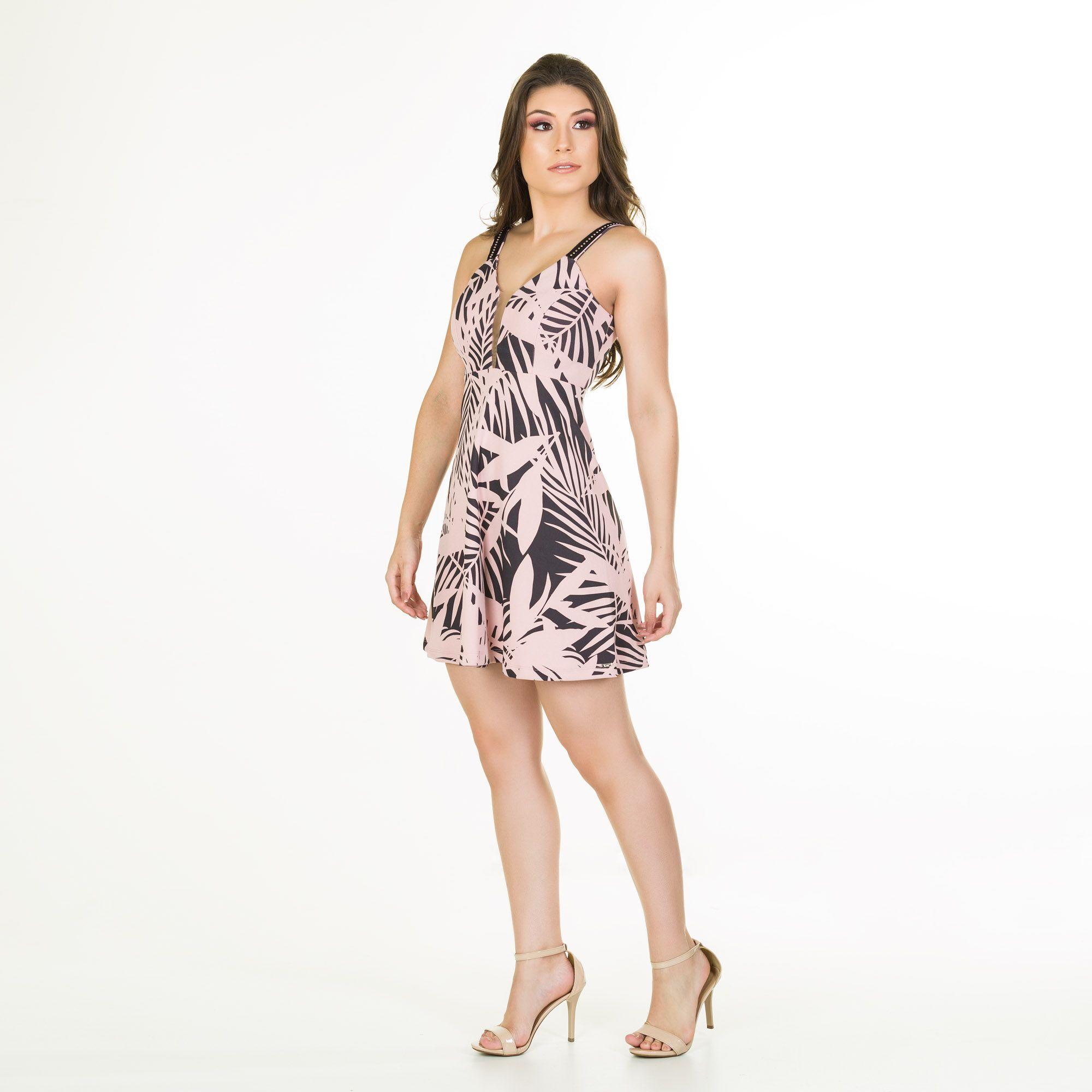vestido crepe sublimado