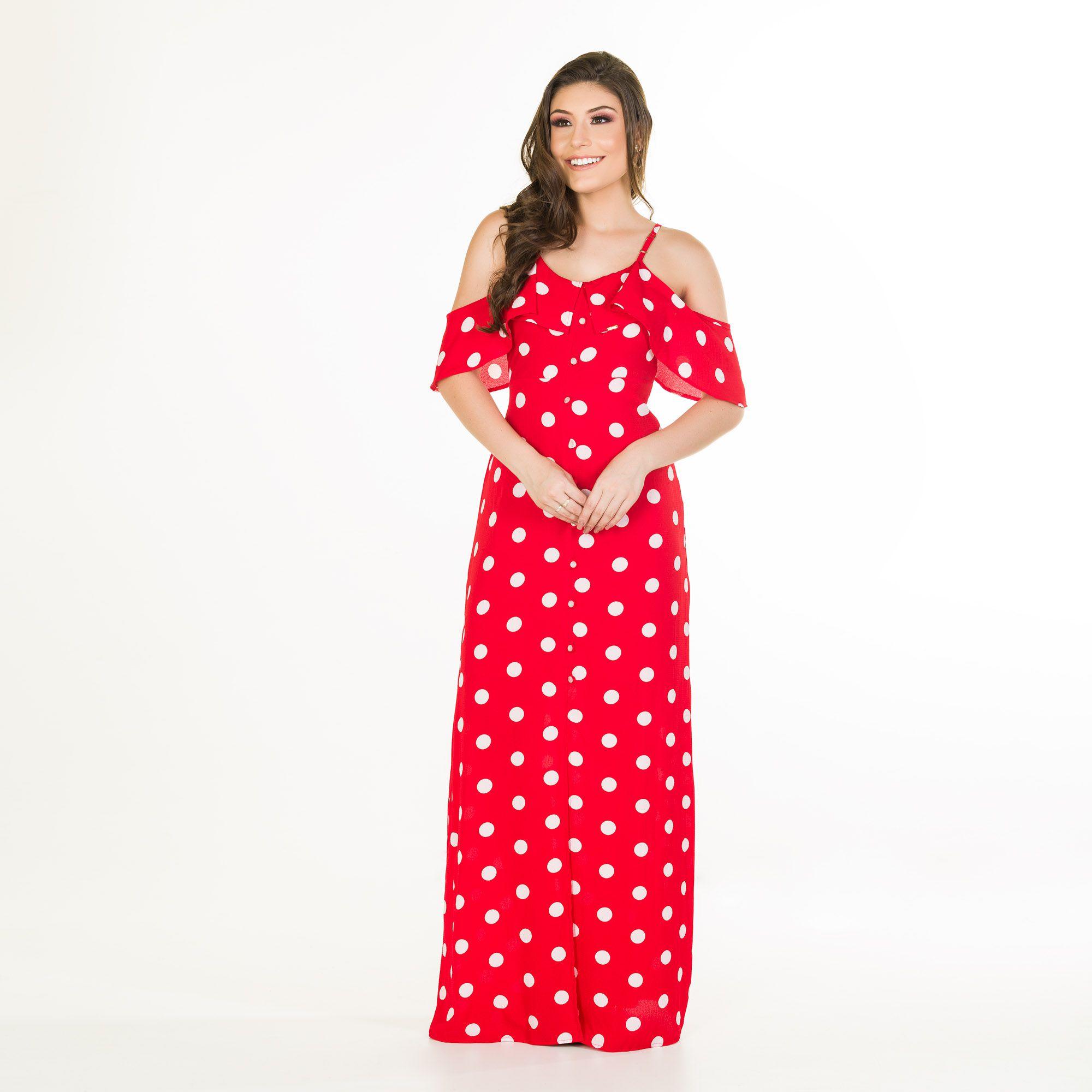 vestido poa longo