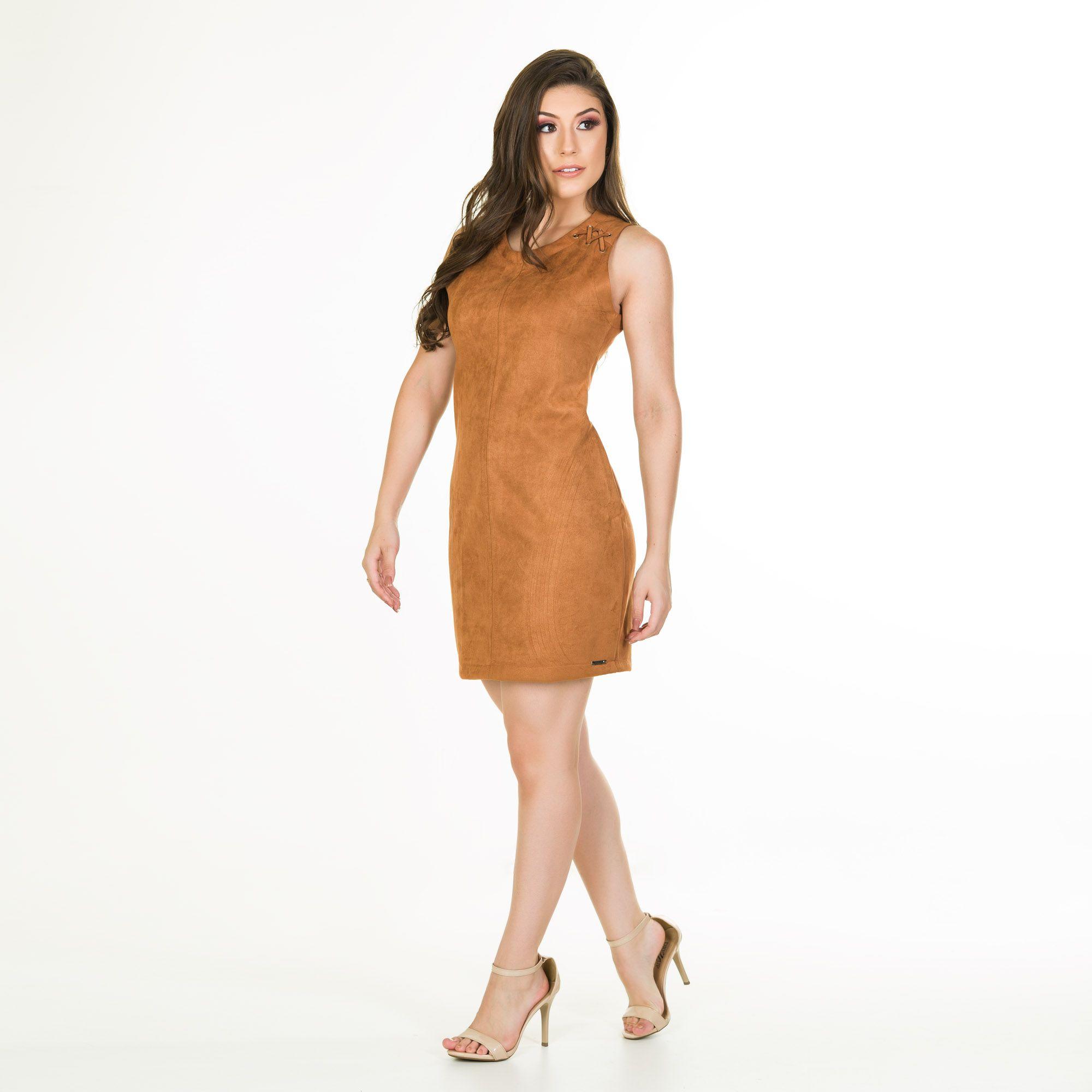 vestido sued