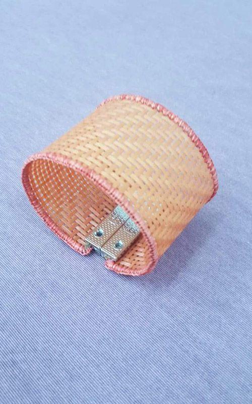 Bracelete Coleção Palha - Cor Laranja
