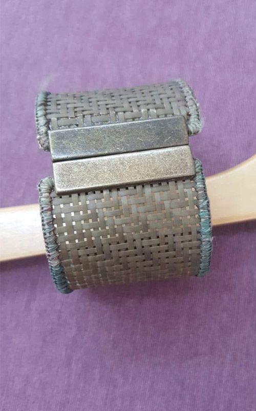 Braceletes Coleção Palha - Cor Verde