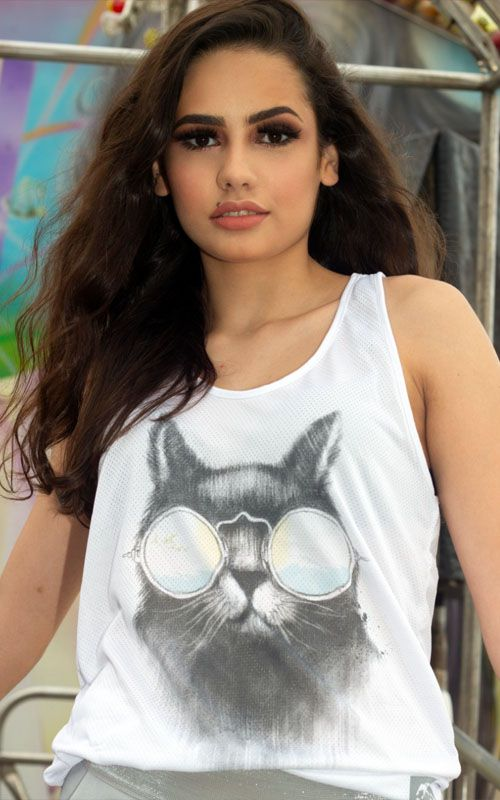 Camisetas ecológicas - tecido garrafa Pet - Vida BR - Gato