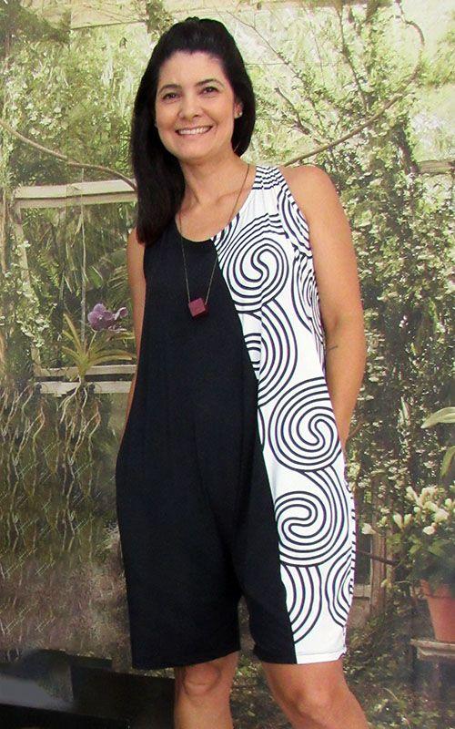 Macaquinho July Branco e Preto