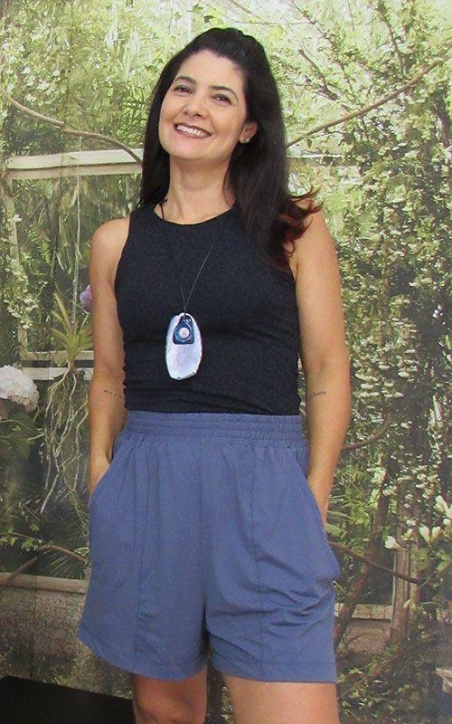 Shorts Karina de fluity Azul