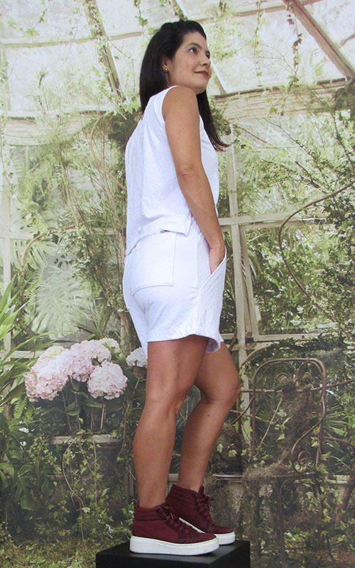 Shorts Karina de fluity Branco